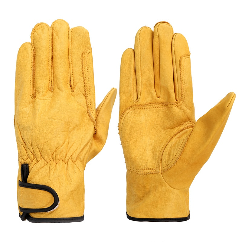 warm winter safety glove split cow leather welding work glove Cowhide Sports Safety Protection Glove Ultrathin Leather Men's Driving Grinding Welding Working Gloves Wholesale 527NP