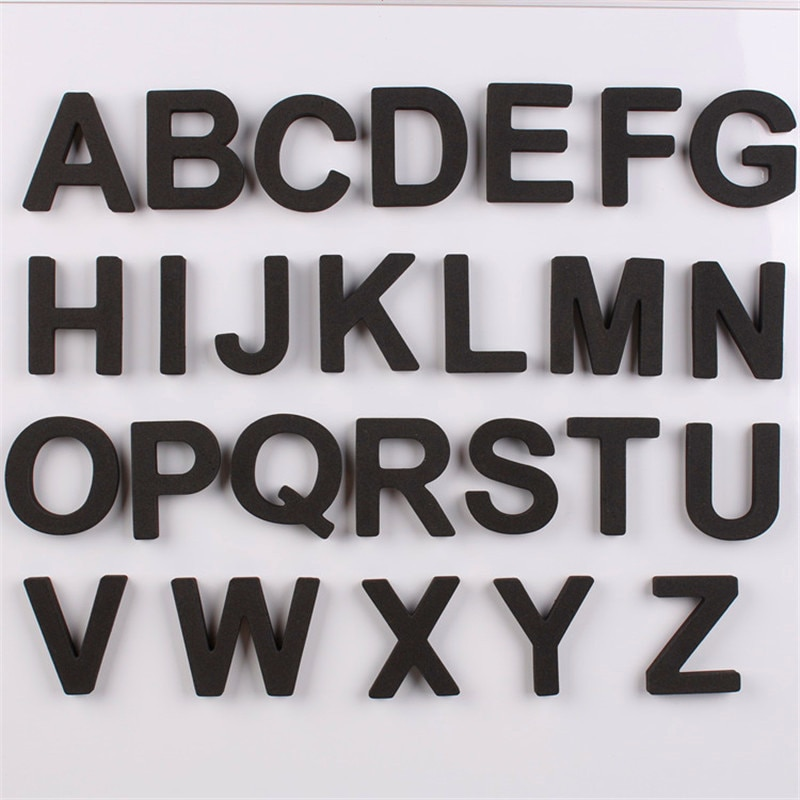 5CM 26 unids/set letras magnéticas de nevera EVA alfabeto capitalizado niños imanes pegatina decoración del hogar Accesorios