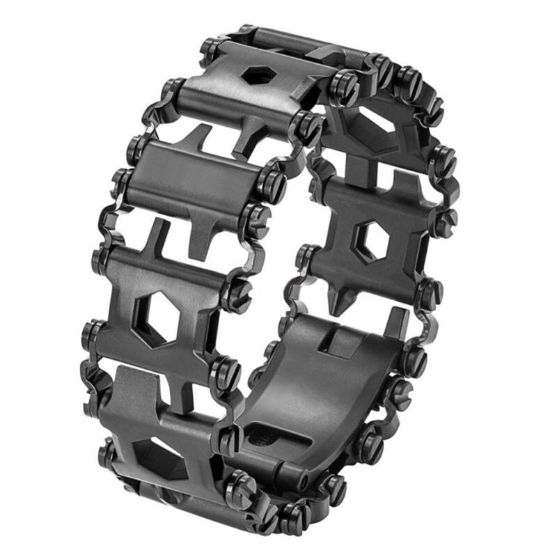 29 in 1 Multifunction Bracelet Tread Bracelet Stainless Steel Bolt Driver Tool Kit Friendly Wearable Bike Pesca Multitool Tool