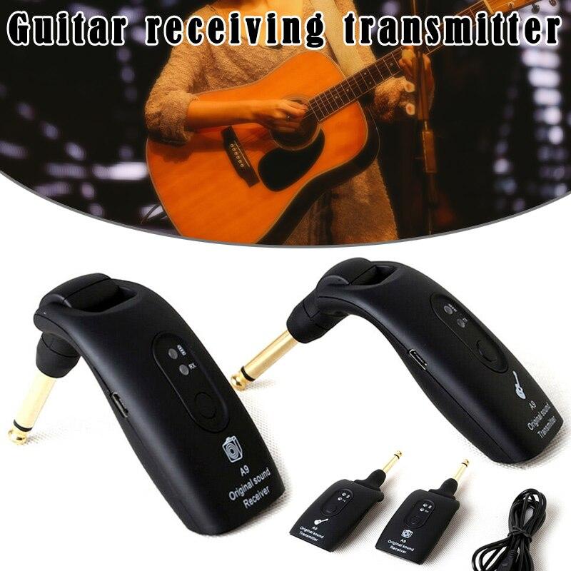 2.4GHz transmetteur de système de guitare sans fil A9 récepteur intégré accessoires rechargeables SEC88