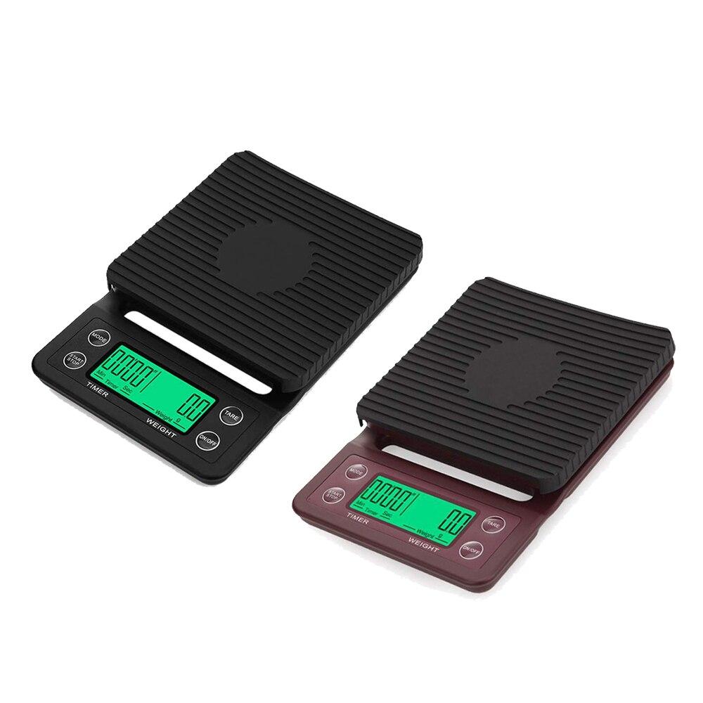 Báscula de café por goteo para el hogar con temporizador de 0,1g, báscula Digital portátil para cocina, báscula LCD de alta precisión