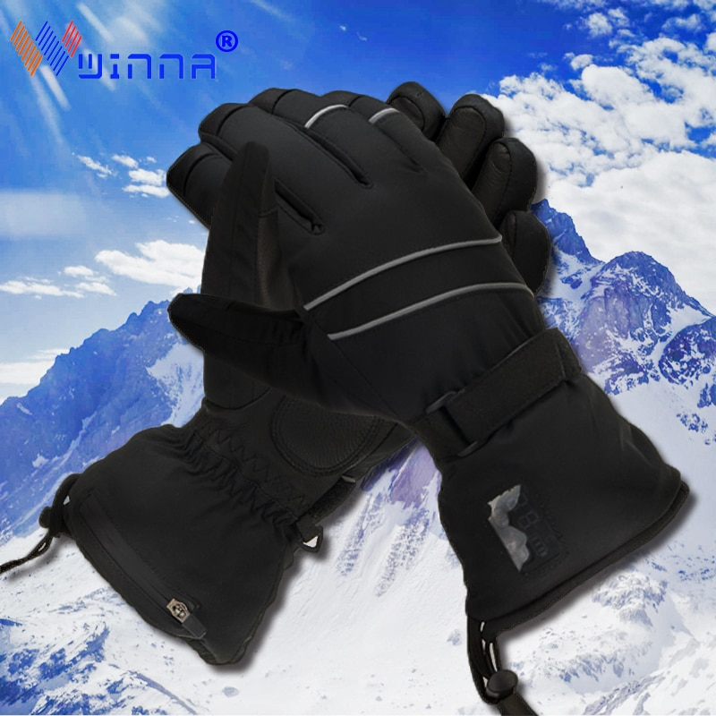 New Washable Heated Gloves Rechargeable Battery for Men Women Waterproof Electric Winter Gloves for Skiing Snowboard Motorcycle
