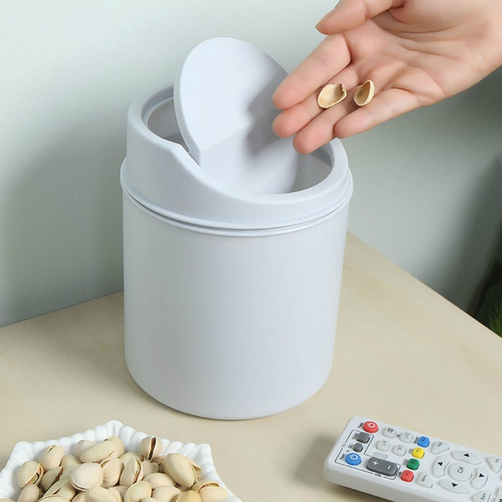 Mini escritorio Mini cubierta creativa de la cocina sala de estar cubo de basura de mesa caja de basura para escritorio de coche