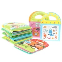 Soft Baby EVA Cartoon Bath Books with BB Whistle Early Educational Bathroom Toys Activity Waterproof Pages Baby Book for Toddler