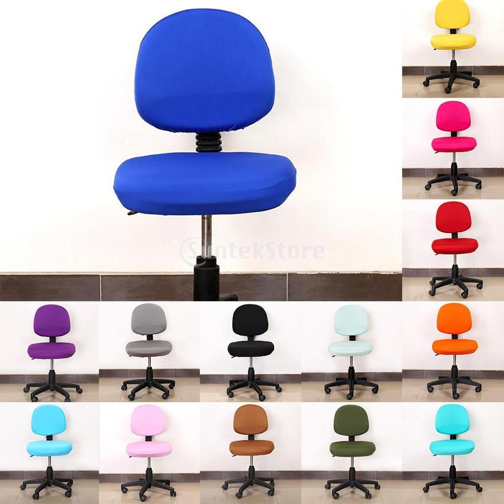 Funda para silla de ordenador Universal de oficina, fundas para asiento de escritorio giratorias, fundas para el hogar, funda trasera para asiento de Silla, Funda Universal para silla