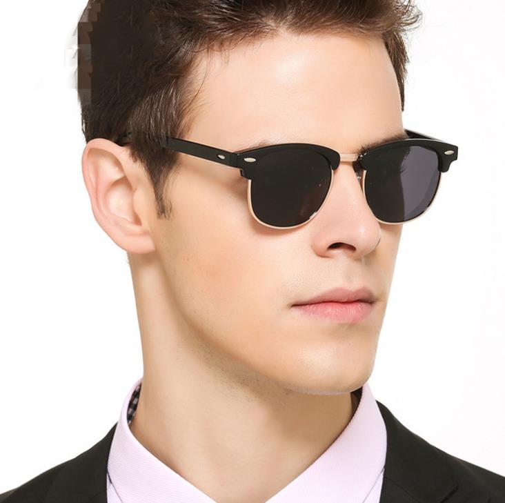 women Fashion Semi Rimless Men Sunglasses Luxury Brand Gradient lens Half-frame Women Sun Glasses UV