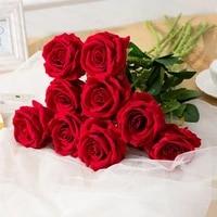Rose Fleur Artificielle Pivoine Faux Bouquet FLEURS BRICOLAGE Accessoires Darrangement Mariage Anniversaire Cadeau De Vacances Decoration De La Maison
