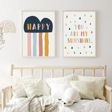 Affiche murale pour chambre de bébé, peinture sur toile, image