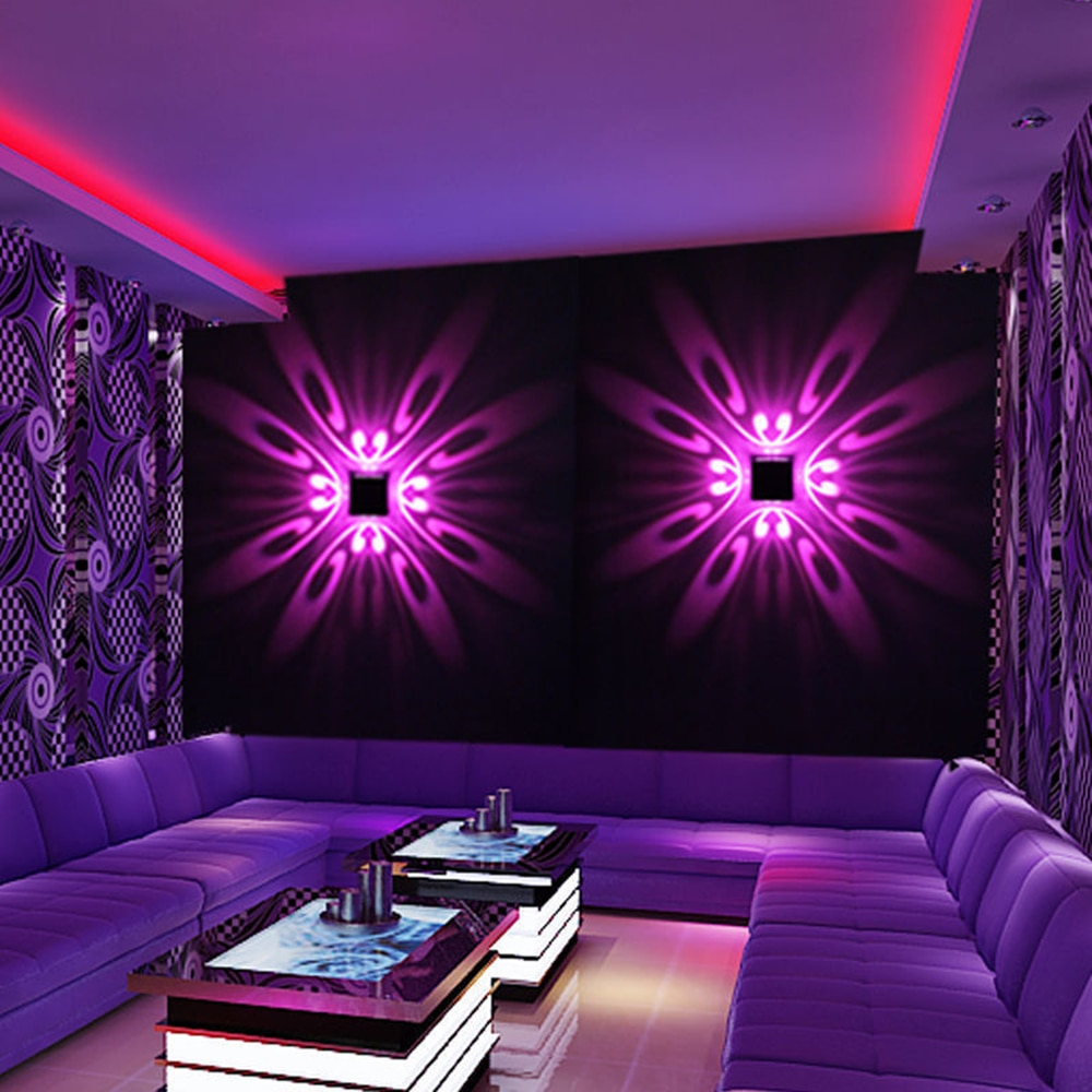 AliExpress - Modern Wall Lamp 3W Aluminum No Rusting Colorful Sconce Lights Novelty KTV Bar Restaurant Living Room Decoration Lighting Lamp