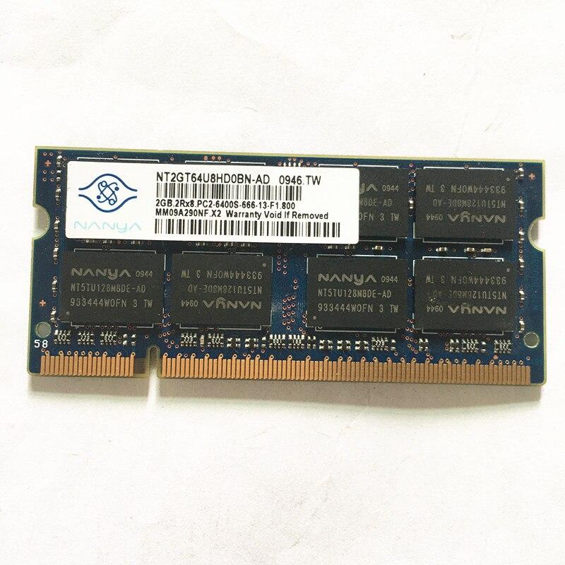 Nanya DDR2 2GB 800MHz portátil de memoria 2GB 2Rx8 PC2-6400S-666 ddr2 2gb...