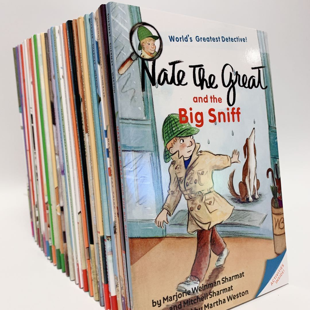 27 Books Nate the great Children's English Picture Book English Learning Case Detective Story Educational Toy English StoryBook