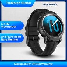 TicWatch E2 Android Wear gps가 장착 된 스마트 시계 Google iOS 및 Android 호환 5ATM 방수 긴 배터리 수명