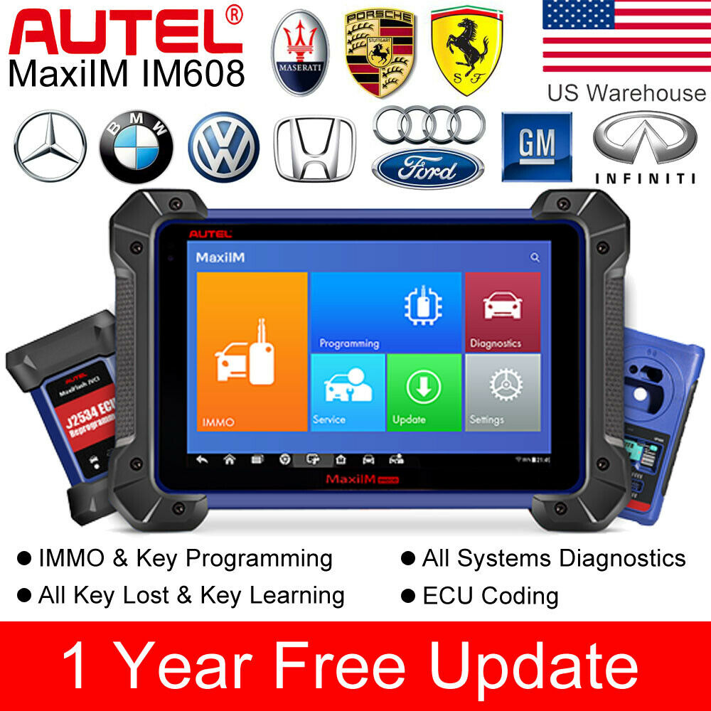 Autel IM608 XP400 Key Programmer Car Diagnostic MaxiFlash ECU Programmer All Systems Diagnostic auto