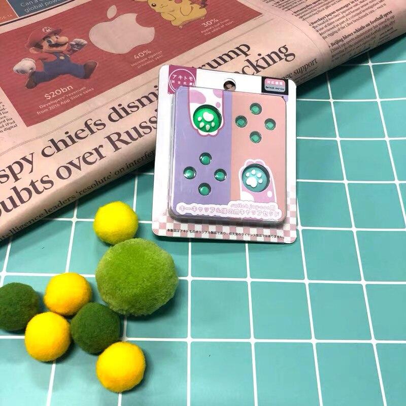 Interruptor de 20 piezas Joycon Botón de corte teclas de cristal para Nintendo controlador ABXY silicona antideslizante JoyCon Grip Cap botón de juego