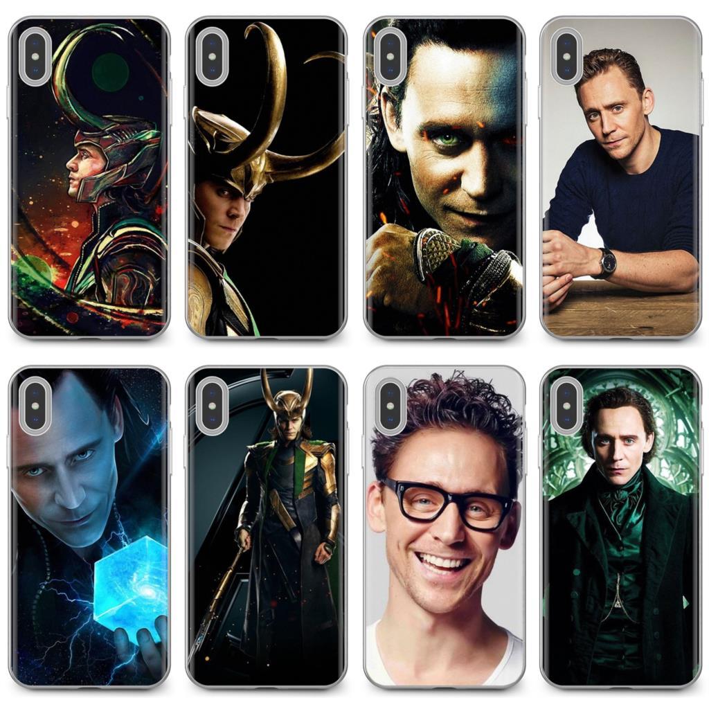 Slim silicona cubierta de teléfono de TPU suave para Huawei Honor Y5 2018 2019 8S 9X Pro 20 10 10i Lite Tom Hiddleston Loki Thor el mundo oscuro