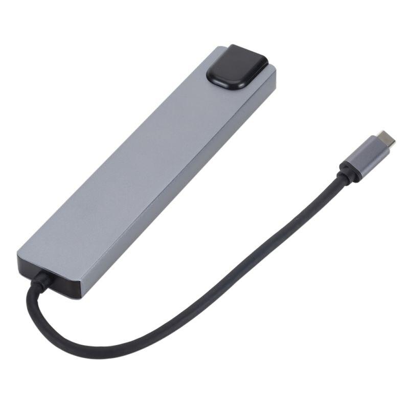 TYPE-C إلى HDMI RJ45 8 في 1 TYPE-C بطاقة الشبكة محطة إرساء الكمبيوتر المحمول محور SD / TF قارئ بطاقات ساخنة جديدة.