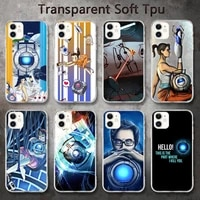 american game portal 2 phone cases for iphone 8 7 6 6s plus x 5s se 2020 xr 11 pro xs max 12 12mini
