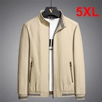 5xl big size mens jacket solid color casual jackets coats 2021 autumn fashion green khaki outdoor outerwear male plus size 5xl