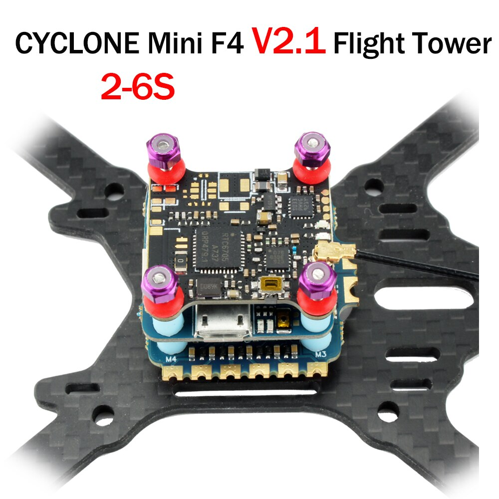 Mini F4 V2.1 Flight Controller Stack FC 20x20 35A 2-4S 4 in 1 ESC for FPV Racing Drone Quadcopter Quad Multicopter Helicopter