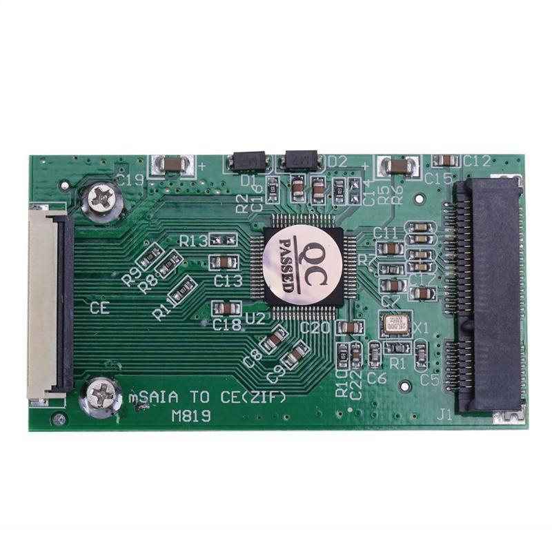 1pc ミニ SATA mSATA PCI-E IPOD ssd 40pin 1.8 インチ zif CE コンバータカードコンピュータ接続とコネクタ