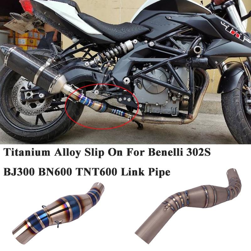 أنبوب وصلة اتصال أوسط من سبائك التيتانيوم سهل الارتداء لدراجة Benelli 300 302S 600 BJ300 BN600 TNT600