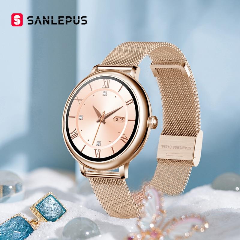 SANLEPUS 2021 Stylish Smart Watch Women Men Waterproof Wristwatch Casual Smartwatch Heart Rate Monitor For Android Apple Xiaomi