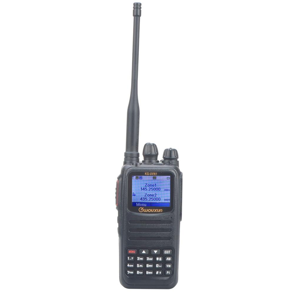 WouXun لاسلكي تخاطب DMR تسجيل رقمي UHF VHF ثنائي النطاق رقمي ومتناظري FM راديو محمول في اتجاهين مع بطارية 2600mAh
