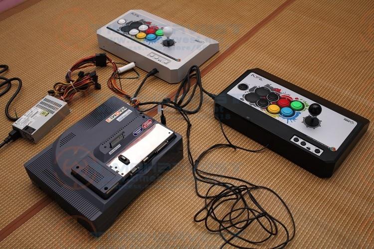 تعديل DIMM الأصلي تستخدم نعومي 2 اللوحة الثاني اليد نعومي اللوحة مع امدادات الطاقة و 2 لعبة المقود للتلفزيون اللعب