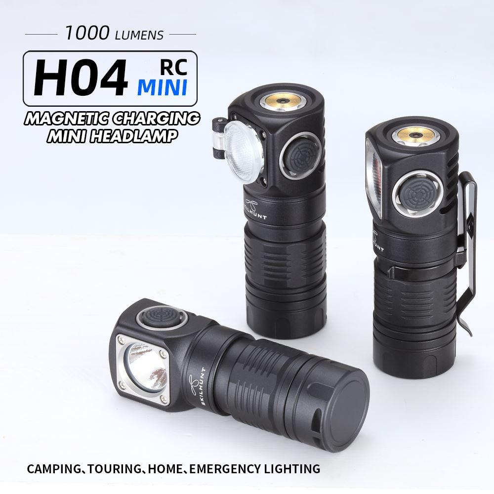 Skilhunt H04 H04R H04F RC البسيطة 1000 التجويف USB المغناطيسي قابلة للشحن LED كشافات اثنين مخصصة UI falshlight تشمل 18350 الخفافيش