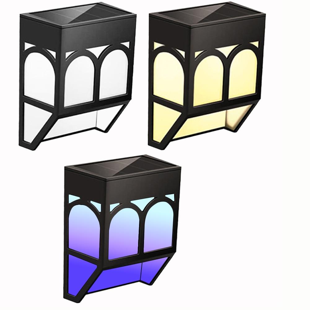 Solar Wall Lamp LED Fence Retro Outdoor Waterproof Led Light