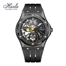 Haofa Skeleton Sapphire Watch For Men Automatic Mechanical Movement Mens Watch Luminous Fashion Luxu