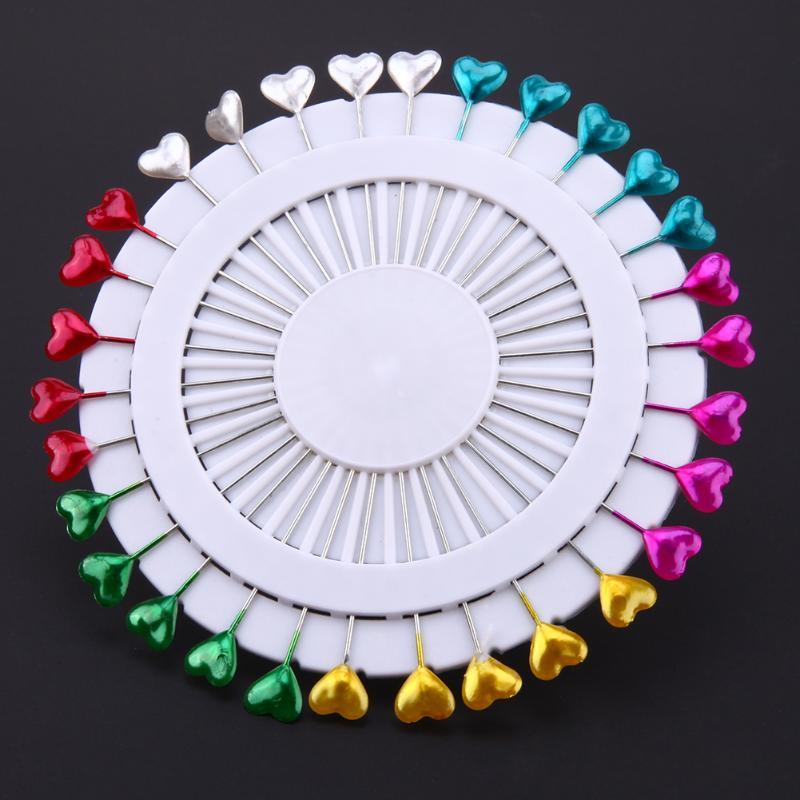 30 uds/480 Uds. Alfileres de costura coloridos redondos alfileres con cabeza recta con forma de perla aguja de localización ramillete de boda accesorios de confección