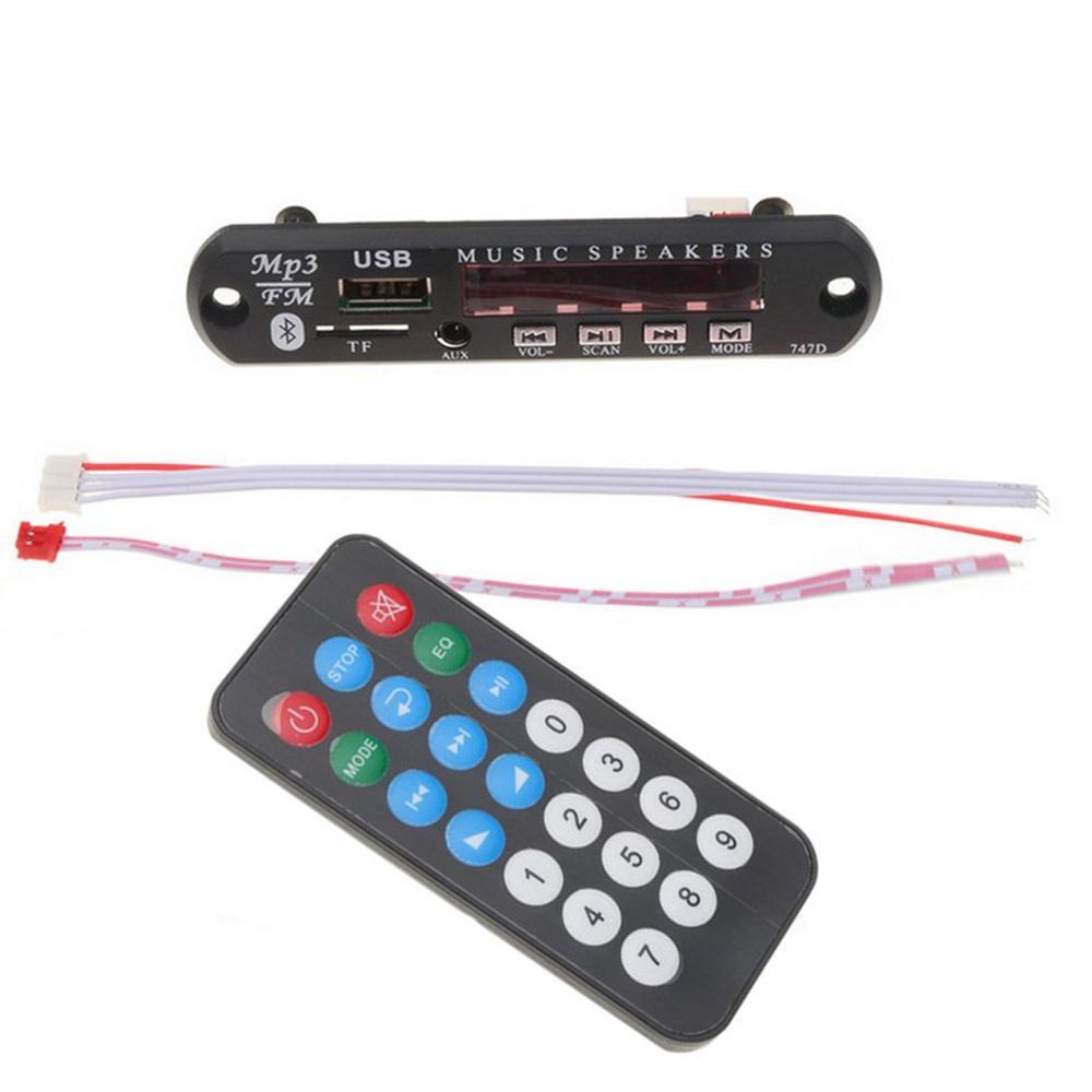 Tablero decodificador inalámbrico Radio 3,5 Mm receptor de Audio receptor inalámbrico coche Kit decodificador tarjeta pantalla de Color