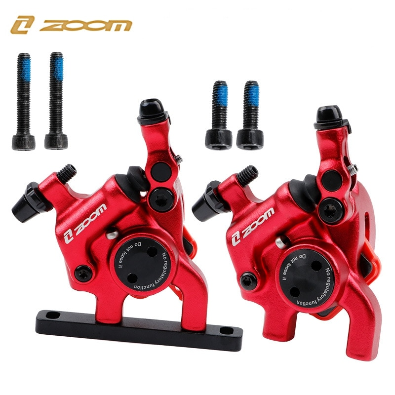 ZOOM para bicicleta de carretera, línea mecánica de tracción hidráulica, pinza de freno de disco, abrazadera anodizada, piezas de bicicleta