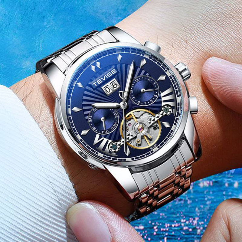 2020 NEW TEVISE Luxury Men Tourbillon Sports Watches Men's Army Military Watch Male Date Automatic M