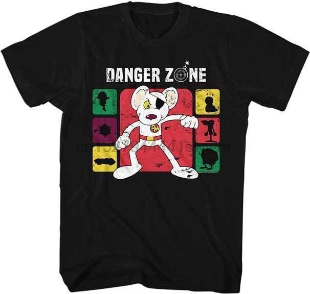 Danger Mouse Danger Zone Adult T Shirt Brittish Animated TV Show
