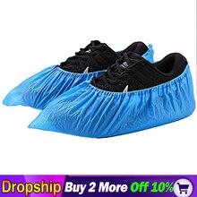 Couvre-chaussures de pluie jetables   100 Pack(50 paires) couvre-chaussures de pluie jetables, couvre-bottes de pluie en caoutchouc antidérapantes, chaussures S/M/L