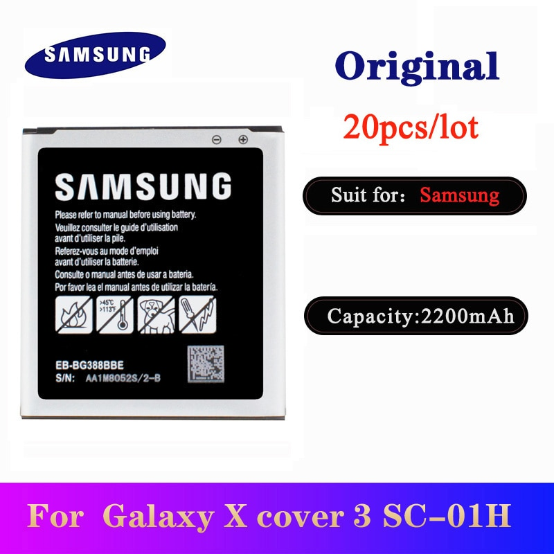 20pcs/lot Battery EB-BG388BBE For Samsung Galaxy Xcover 3 G388 G388F G389F Original High Quality Phone Bateria 2200mAh