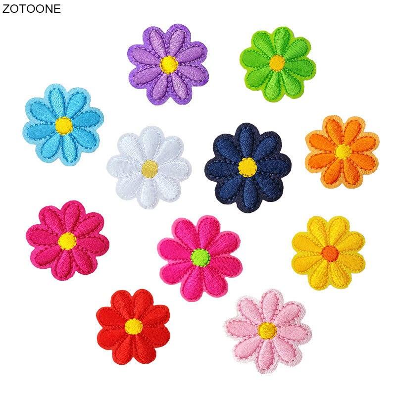 Zotoone colorido flor remendo ferro em remendos para vestuário transferência de calor bordado tarja costurar em roupas diy applique crachá g