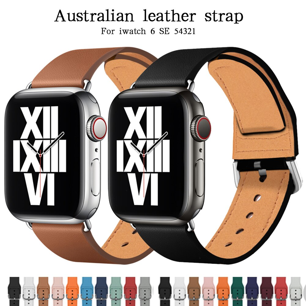 soft silicone loop strap for apple watch band 5 4 44mm 40mm bracelet wristband for iwatch series 5 4 3 2 1 42mm 38mm accessories 100% Cow Leather loop Bracelet Belt Band for Apple Watch 6 SE 5 4 3 2 1 42MM 38MM 44MM 40MM Strap for iWatch 6 5 4 Wristband