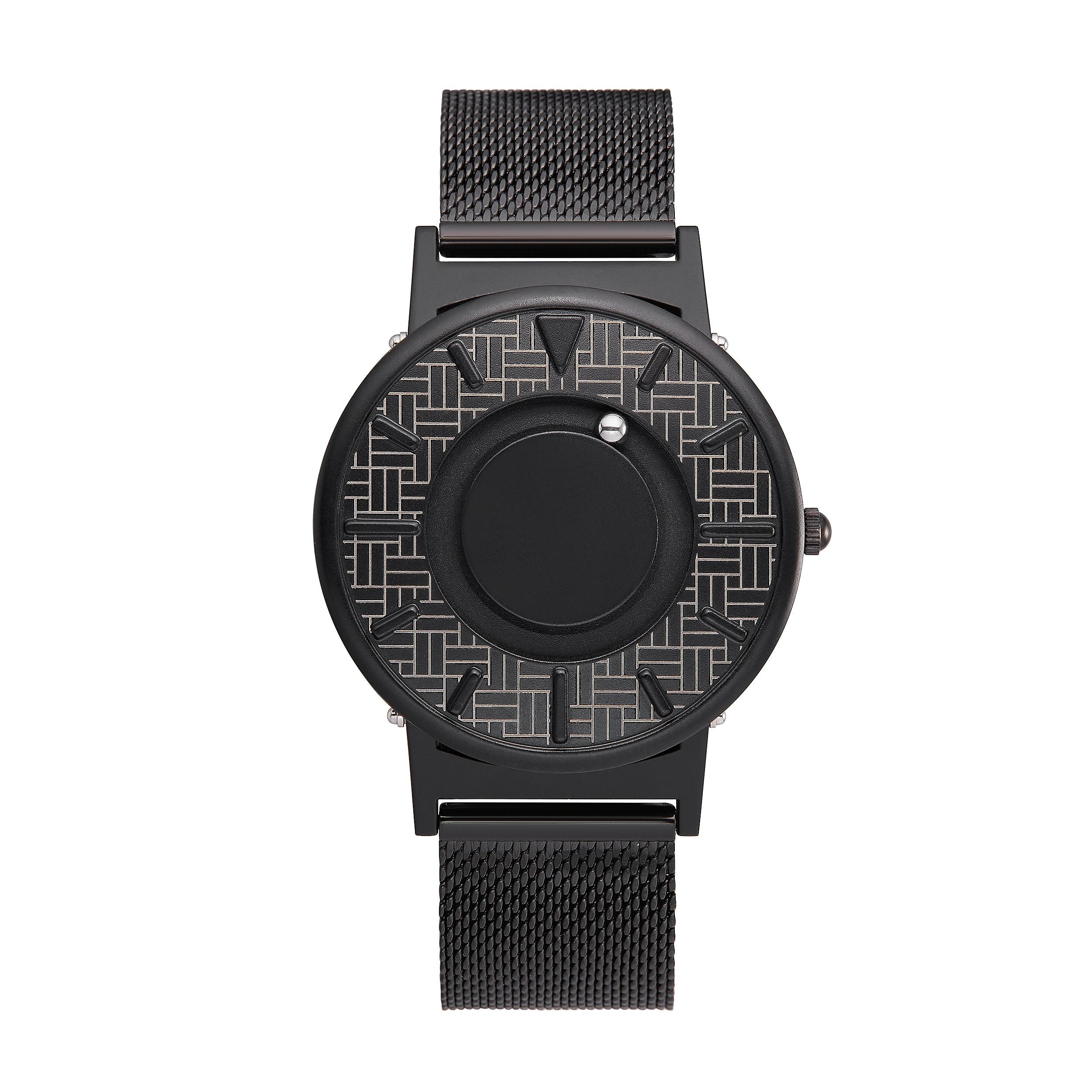 Reloj simple de acero inoxidable EUTOUROriginal personalizado con banda de bolas magnéticas para hombre a la moda con reloj de pareja de agujeros