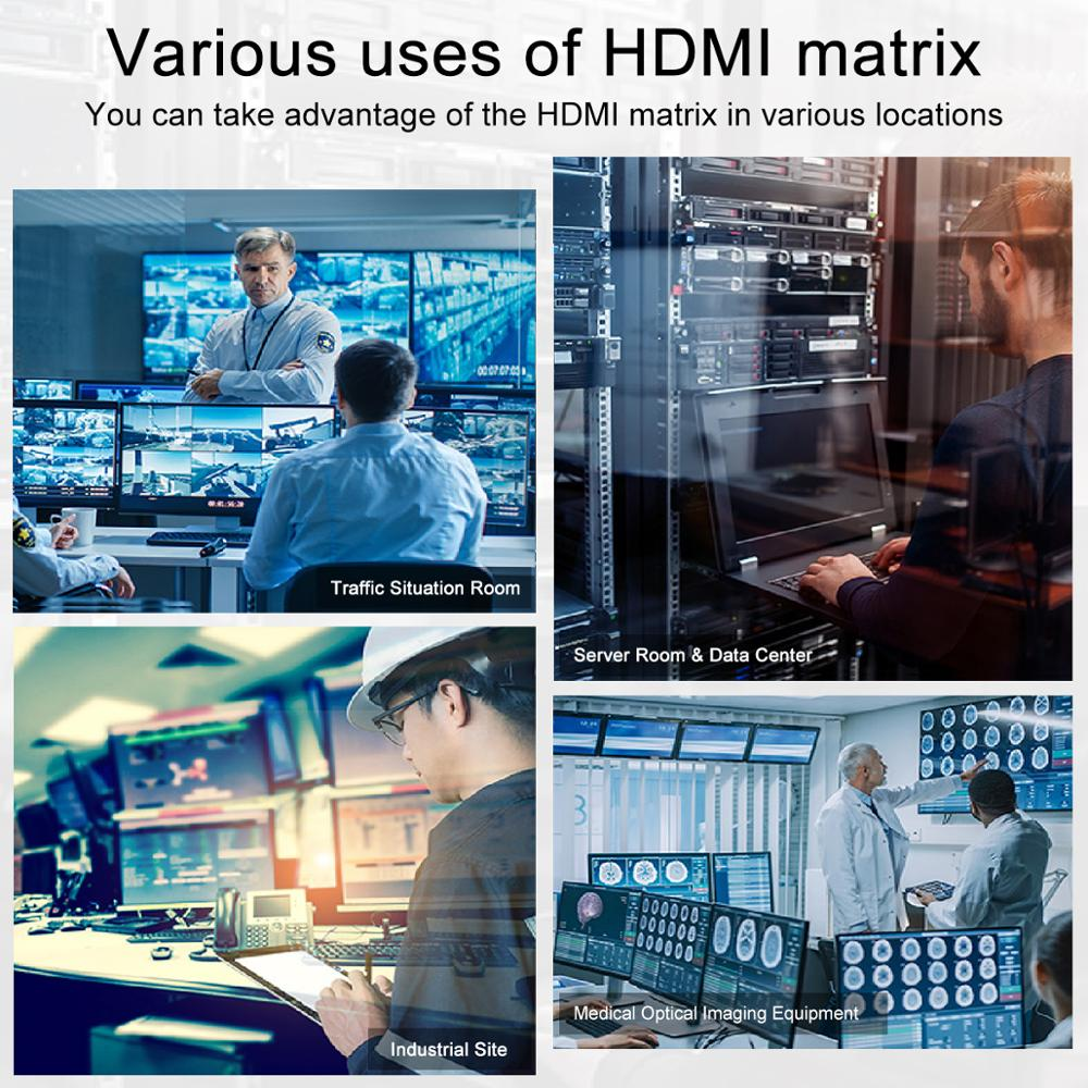 HDMI Matrix 4 In 4 Out HDMI Switch Splitter Ultra HD 4K  4 Ports RS232 LAN Without HDCP enlarge