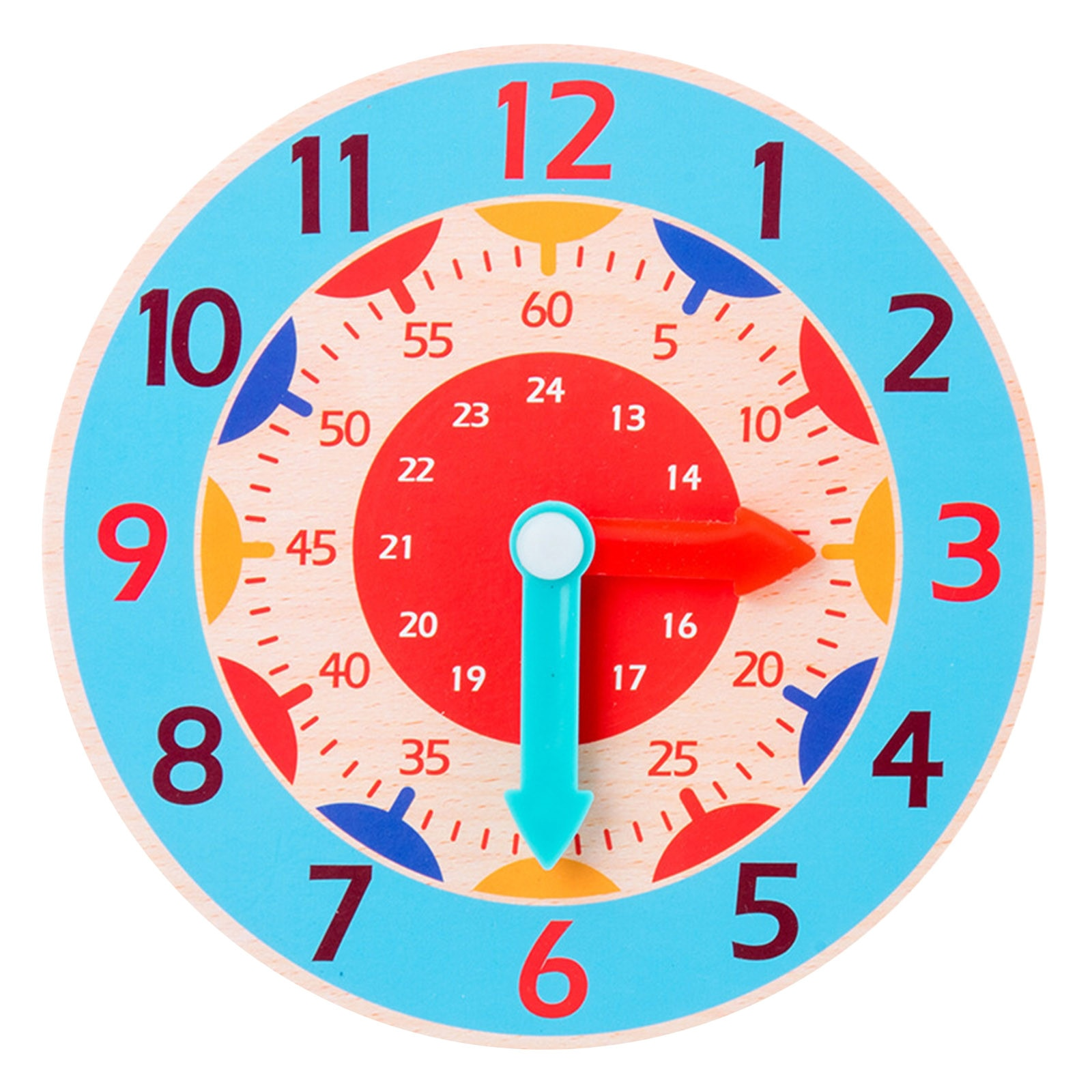 Wooden Digital Clock Toys For Kids Time Enlightenment Digital Learning Clock Watch Model Learning To