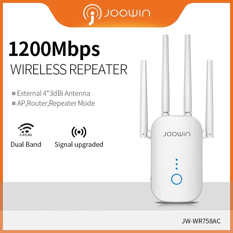 Высокоскоростной Wi-Fi ретранслятор Joowin, двухдиапазонный 1200/2,4 ГГц, 5,8 Мбит/с, беспроводной Wifi расширитель с использованием антенн 4*3 дБи, длинн...