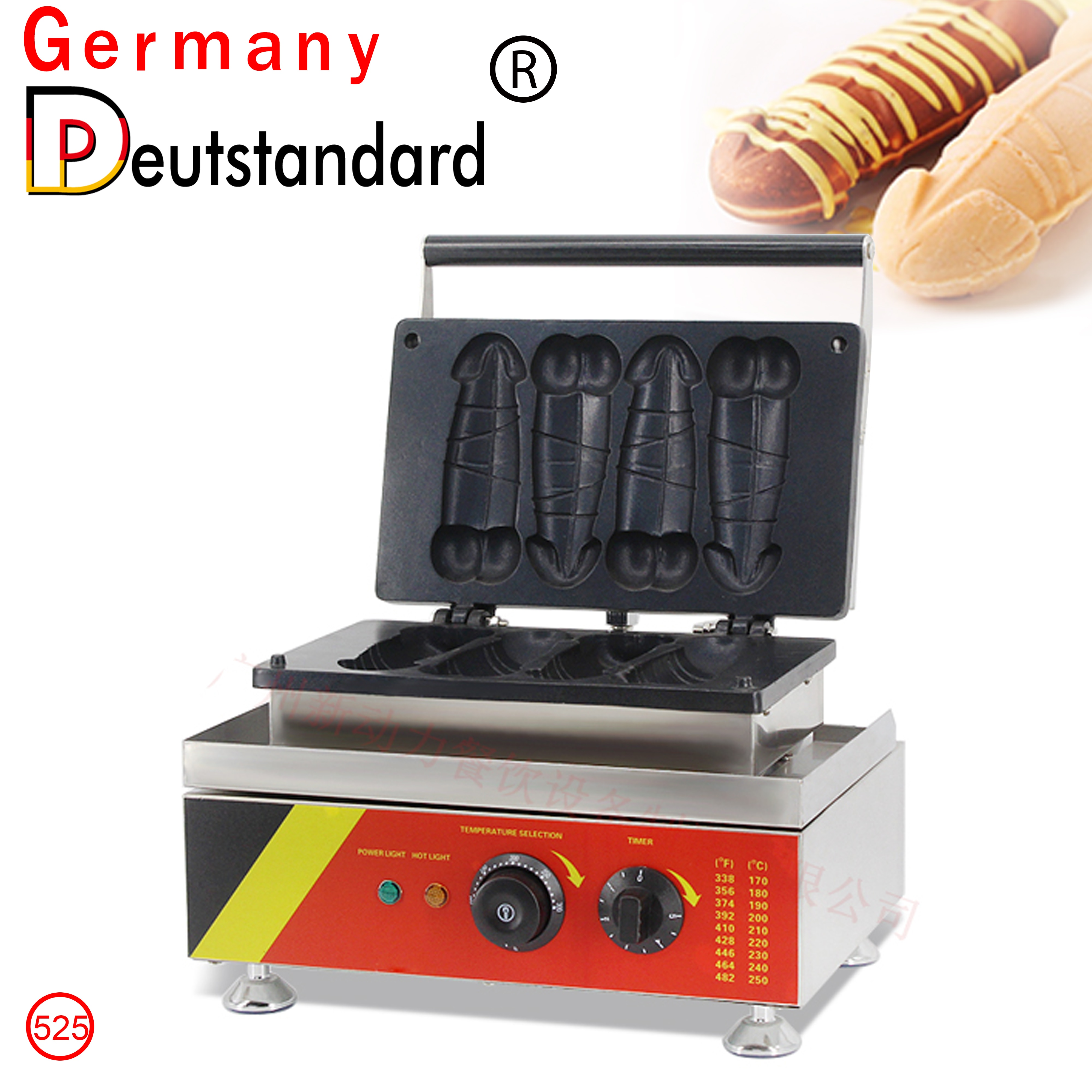 Hot Sale Commercial Electric 4pcs Penis Shape Waffle Maker Waffle Stick Machine Bread Baking Waffle Oven Snack Machine With CE недорого
