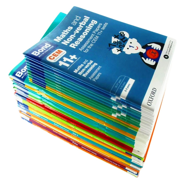 42 Books Bond 11+ English Maths Verbal Reasoning Non-Reasoning Assessment Papers Books For 5-12 Years Old kids Textbook