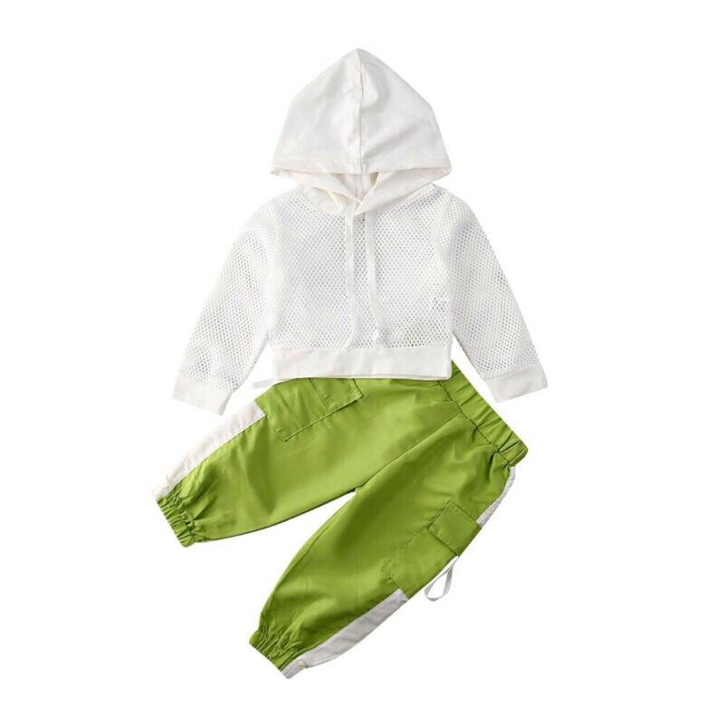 18M-6Y conjunto de ropa de niña para bebés pequeños de malla con capucha Hallow hacia fuera camisetas + Pantalones chándal Casual niños disfraces
