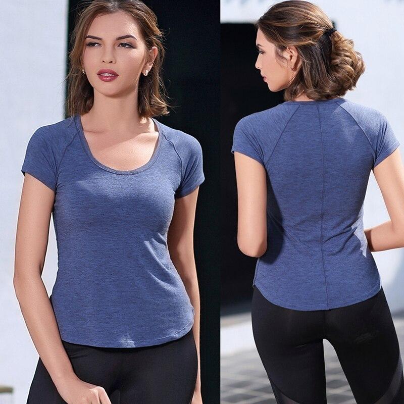 R.FW, camisetas para correr de verano de alta calidad para mujer, camisetas ajustadas para hacer ejercicio, camiseta de manga corta Yogo para mujer, camiseta de secado rápido para gimnasio