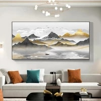 abstract art chinese style landscape painting wall art pictures canvas painting quadro living room home decorative paintings