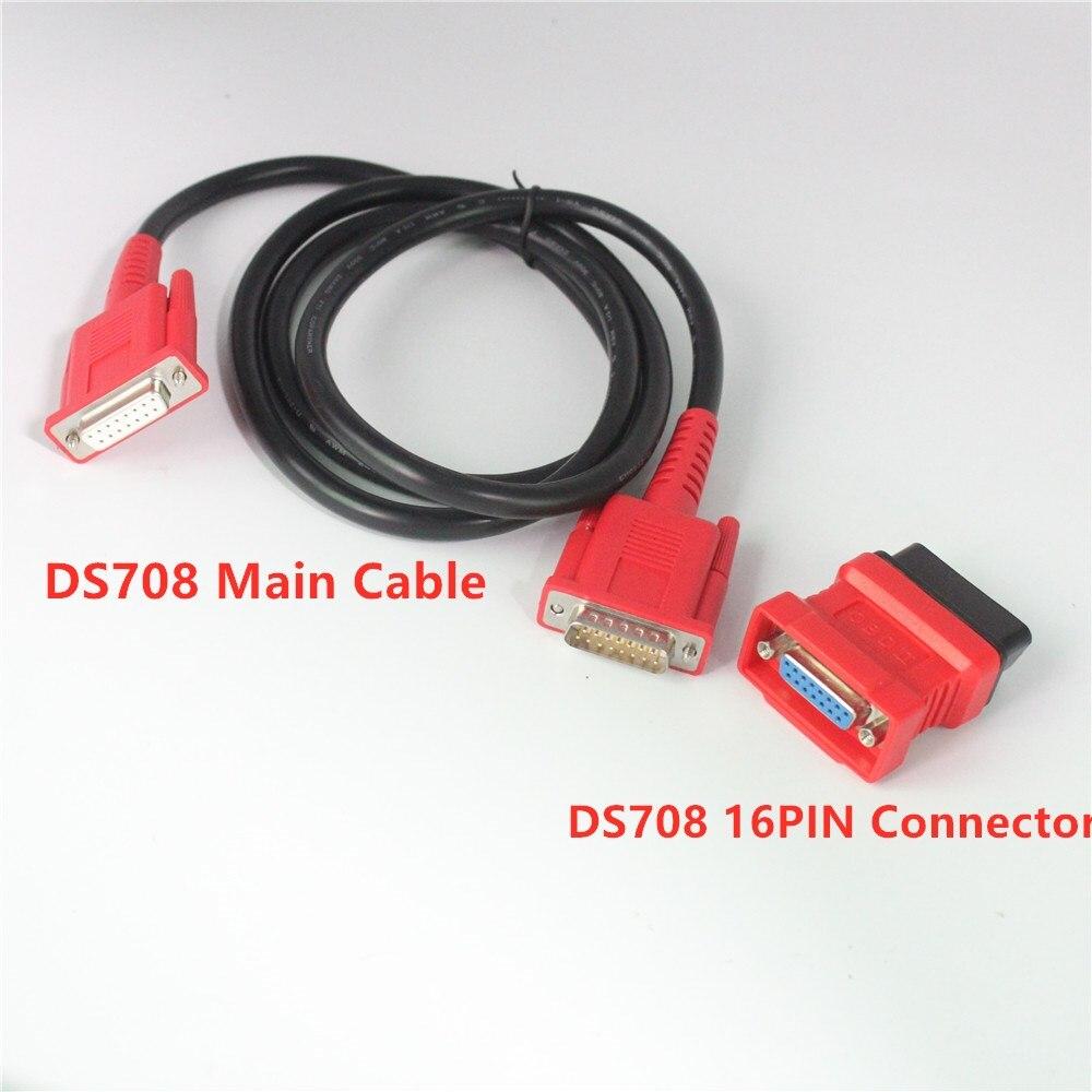 Автомобильный Кабель OBD2 для autel DS708, соединительный кабель и соединитель ds708, 16-контактный адаптер obd2 для maxides DS708, Автомобильная диагностика